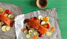Salmon: foil packet directions and different veggie combinations too!