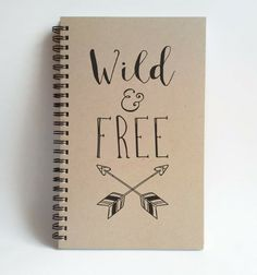 Wild and free 5X8 Journal spiral notebook by TheJournalCompany