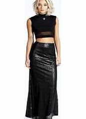 boohoo Jemma All Over Sequin Fish Tail Skirt - black Give in to Hollywood glam with this fabulous fish tail maxi skirt , making for a old school take on sequins! Wear it with a crop top , quirky arm cuff and killer court heels . http://www.comparestoreprices.co.uk/skirts/boohoo-jemma-all-over-sequin-fish-tail-skirt--black.asp