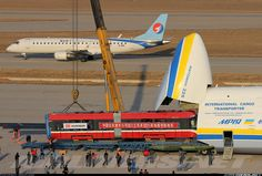 Loading a Tram into the mighty Antonov An-225 Mriya