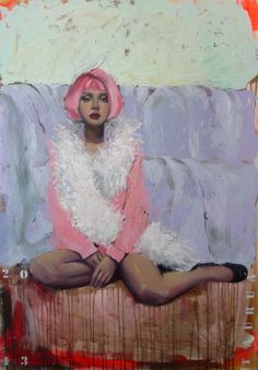 "Saatchi Online Artist: TAURUA Pascale; Oil, Painting ""Rose"""