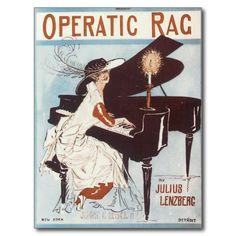Operatic Rag - Vintage Song Sheet Music Art Post Card #postcards #SongSheet #gifts