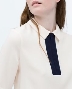 ZARA - WOMAN - TOP WITH ZIP ON CHEST