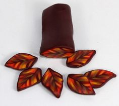 Polymer Clay fall leaf canes