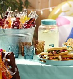 Dive into party planning mode with our poolside menu of snacks, sandwiches, and delicious drinks.