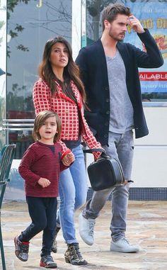 Kourtney Kardashian, her beau Scott Disick and her son Mason Dash Disick