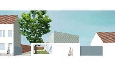 Two Wide Houses, Aalst, by De Kort Van Schaik