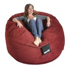 Shop for Slacker Sack Round Corduroy Bean Bag Chair. Get free delivery On EVERYTHING* Overstock - Your Online Furniture Shop!