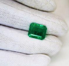 2.76 Ct  Fine Natural Emerald Square Octagon Columbian  UnTreated Loose Gemstone #RareGemIN