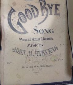 'Goodbye'by Philip Lorimer composed by John Stevens.  Listen to this song on the website