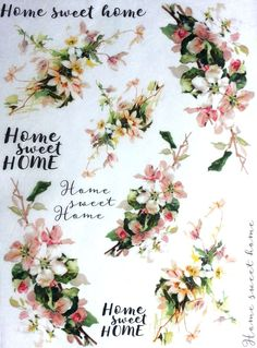 Rice Decoupage Paper / Decoupage Sheets / Scrapbooking / Home sweet home