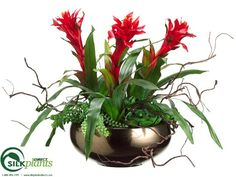 #Colorful, #delicate and full of #life, our artificial Bromeliad #flowers will be a great addition to your living room