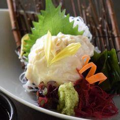 Yuba (Beancurd skin) Sashimi included vegetarian course  湯葉刺し ベジタリアンコースの一品  #kaiseki #cuisine #kitaohji #yuba #sashimi #soymilk #soymilkskin #tofuskin #driedbeancurd #beancurdskin #vegetarian #healthy #湯葉 #刺身 #ベジタリアン #japanesefood #instafood #foodpic #foodporn #japanesecuisine #authenticjapanesecuisine #dinner #yum #yummy #thonglor #bangkok #sukhumvit #อาหารญ by kitaohji_thailand