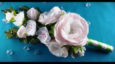 Bridal bouquet: hairpins-flowers/Ramo de boda: flores-barrettes/Букет не...