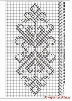 How to Crochet Wave Fan Edging Border Stitch - Crochet Ideas Cross Stitch Borders, Crochet Borders, Crochet Diagram, Crochet Chart, Cross Stitch Flowers, Cross Stitch Charts, Cross Stitch Designs, Cross Stitching, Cross Stitch Embroidery