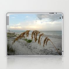 Sunset with Sea Oat Laptop & iPad Skin by Rosie Brown - $25.00