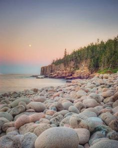 "Acadia National Park, Maine Coast | ""Moonrise"" by Allison Trentelman, Rocky Top Studio Fine Art Photography"