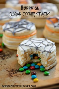Spooky Surprise Sugar Cookie Stacks - Perfect for Halloween!