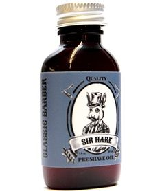 Premium Shaving Oil By Sir Hare Works with Any Razor and with Any Shaving Cream Gel or Shaving Soap Pairs with Sir Hare Barbershop Shaving Soap ** Be sure to check out this awesome product.