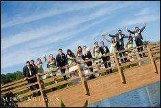www.OrlandoDJ.com, Mike Briggs Photography, outside ceremony, spring wedding, bridal party photos