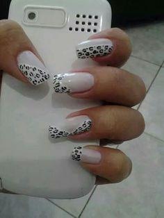 Cheetah Nail Designs, Cheetah Nails, Nail Polish Designs, Nail Art Designs, Gorgeous Nails, Pretty Nails, Nail Art Stencils, Glamour Nails, Creative Nail Designs