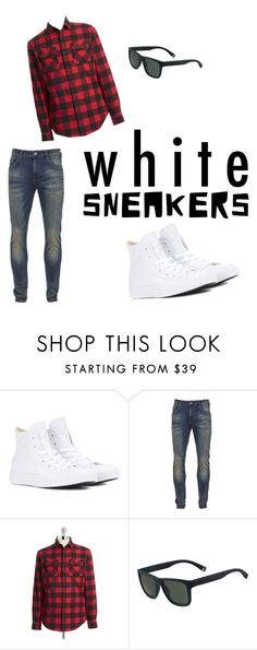 """Contest: White Sneakers"" by regan-l-weeks ❤ liked on Polyvore featuring Converse, Scotch & Soda, Original Penguin, Lacoste, men's fashion and menswear"