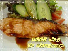 Salmon Teriyaki  http://yumyumbites.blogspot.com/2012/07/lunch-with-udon-and-salmon-at-sakae.html