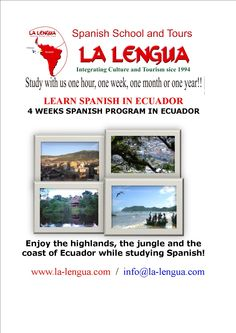 With offices in Ecuador, LA LENGUA provides one to one spanish lessons and group lessons at flexible hours that fit with your travel, volunteer and/or work schedule.