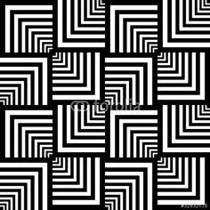Vektör: Seamless op art pattern. Geometric texture.