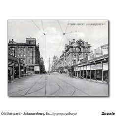 Shop Old Postcard - Johannesburg, South Africa created by Personalise it with photos & text or purchase as is! Old Pictures, Old Photos, Johannesburg City, Old Postcards, African History, Old City, South Africa, Landscape Photography, Cape Town