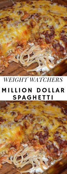 Million Dollar Spaghetti - Healthy Fish Food İdeas Skinny Recipes, Ww Recipes, Fish Recipes, Cooking Recipes, Healthy Recipes, Pasta Recipes, Instant Pot Spaghetti Recipe, Spagetti Recipe, Million Dollar Spaghetti