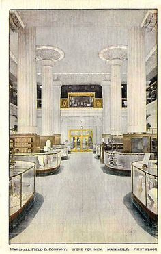 Illinois postcard Chicago Marshall Field amp Co Department Store Main Aisle Fl Chicago Photos, My Kind Of Town, Nordic Interior, Vintage Interiors, Good House, Chicago Illinois, Department Store, Maine, Sweet Home