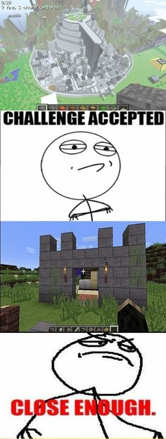 Me at building in Minecraft