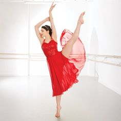 1st Position Red Long Sequin Lyrical Dress dazzle-dancewear.co.uk