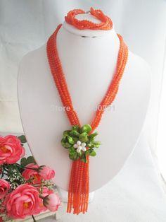 Free Shipping !!!W-1390 Splendid African Beaded Crystal Jewelry Set African Agate Beads Jewelry Set for Wedding 2014 NEW $58.69