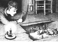 """Smallness: Miyazaki's """"Arrietty"""" & Norton's """"The Borrowers"""" Edward Ardizzone, Children's Book Illustration, Book Illustrations, Family Garden, Children's Literature, Miyazaki, Faeries, The Borrowers, Book Lovers"""