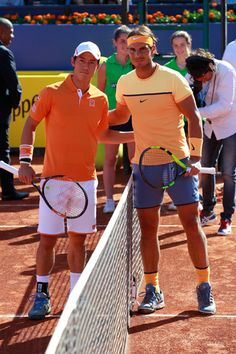 Kei Nishikori and Rafael Nadal
