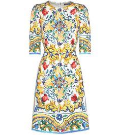 mytheresa.com - Printed jacquard dress - Luxury Fashion for Women / Designer clothing, shoes, bags