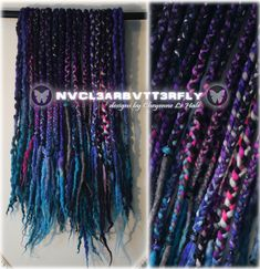 "Sparkly Wool Dreads & Braids ""Silver Galaxy"" - - Violet Blue Aqua Pink Purple Gray Silver (Ready to Ship) Festival Dreadlocks Wool Dreads, Dreadlocks, Purple Grey, Gray, Aqua Blue, Dread Braids, Galaxy Hair, White Highlights, Synthetic Hair Extensions"