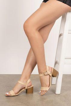 Nude Boots, Nude Heels, Strappy Heels, Wrap Heels, Beautiful Toes, Pretty Toes, Ankle Strap Block Heel, Block Heels, Legs