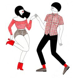 Caption: Mod Party Wave is this Wednesday. Come dance with us at Revolver <3 dance by Laura Callaghan Illustration, via Flickr