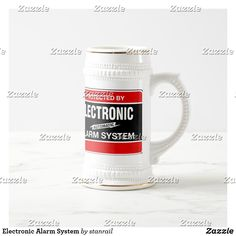 Shop Electronic Alarm System Beer Stein created by stanrail. Alarm Companies, Security Companies, Home Security Systems, Best Alarm, German Beer Mug, Beer Stein, Security Cameras For Home, Alarm System, Beer Lovers