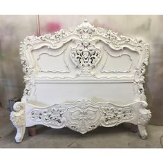 Queen Bed French Provincial Rococo Mahogany Gothic Country Mid 1 999