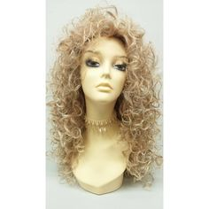 Long 27 Inch Curly Mixed Natural Blonde Wig Cosplay Wig... (185 PLN) ❤ liked on Polyvore featuring costumes, wig, bath & beauty, black, hair care, wigs costume, cosplay halloween costumes, holiday costumes, role play costumes and cosplay costumes