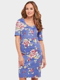 Joe Browns Romantic Summer Dress - Blue   littlewoodsireland.ie Blue Summer Dresses, Blue Dresses, Motif Floral, High Leg Boots, Occasion Wear, Casual Dresses For Women, Dress Outfits, Cold Shoulder Dress, How To Wear