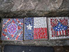Patriotic Stepping Stones