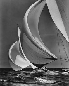 Flying Spinnakers, 1938 | © Mystic Seaport, Rosenfeld Collection