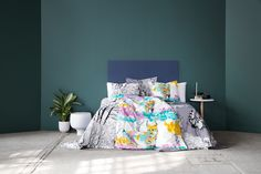 Lumi-ilves bedset by Saara Kurkela, Lehtisade bed set by Riina Kuikka, Mon Amour bed set by Tanja Orsjoki Close To Home, Japanese Culture, Home Collections, Colours, Bed, Inspiration, Furniture, Home Decor, Biblical Inspiration