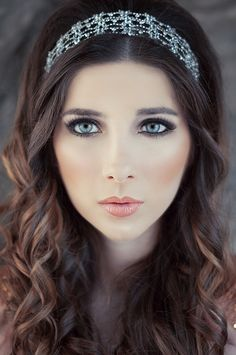 Wedding Make Up by Jvdas Berra, via Behance i would probably wear something a little less dramatic but i like this