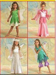 Halloween FAIRY COSTUME PATTERN Child Size 2 - 5 Girls / Children ~ NEW
